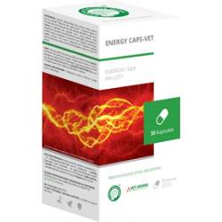 ENERGY CAPS-VET 30 kapsułek – energia i siła na długie loty